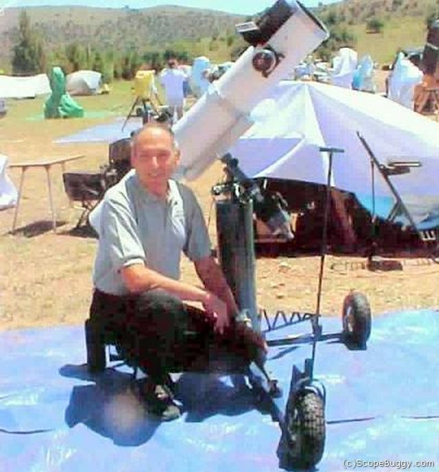 Dr David Levy enjoys his 1st-generation ScopeBuggy